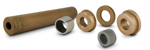 Sleeve Bearings & Bar Stock - Sintered Bronze, Split-Type, Plastic